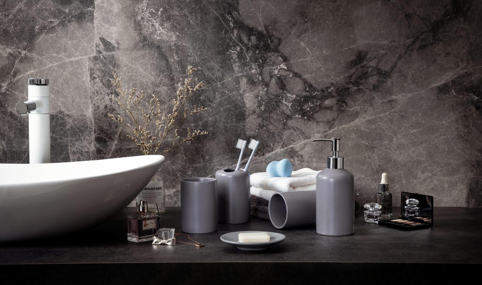 Buy Modern Five Piece Bathroom Accessories Set